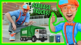 Garbage Trucks For Kids With Blippi | Educational Toy Videos For Children