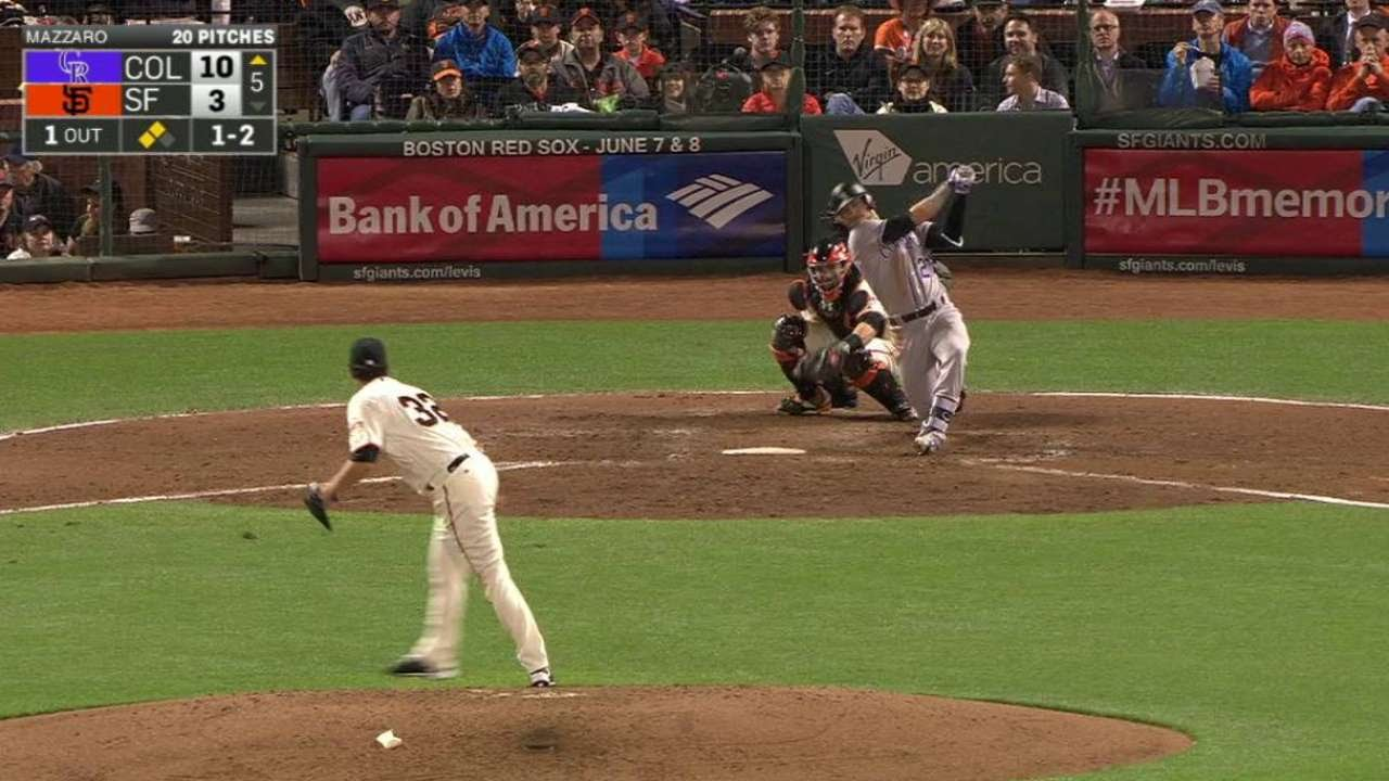 COL@SF: Story collects his second 5th-inning RBI