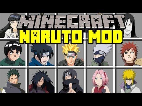 Minecraft NARUTO MOD! | BATTLE WITH NARUTO, SASUKE, KAKASHI, SAKURA, & MORE ! | Modded Mini-Game