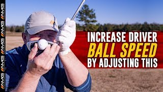 Increase Driver Ball Speed By Adjusting THIS 🏌️♂️