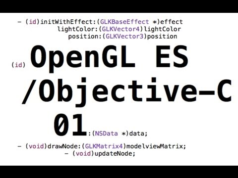 OpenGL ES/ Objective-C Game Tutorial part 1: Xcode setup