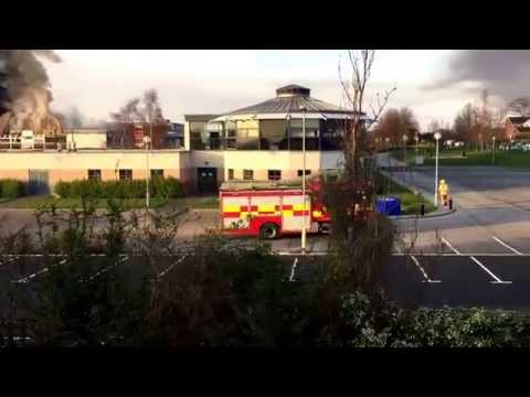 Shiney Row College on fire