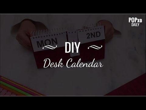 DIY Desk Calendar - POPxo