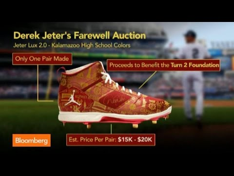 Derek Jeter Farewell Auction Showcases $10K Sneakers