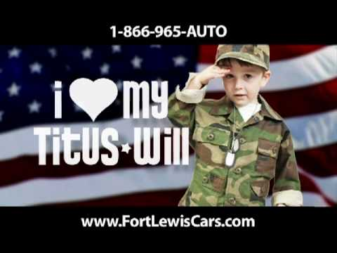 Ft. Lewis Used Cars Military Discounts TV Ad Commercial