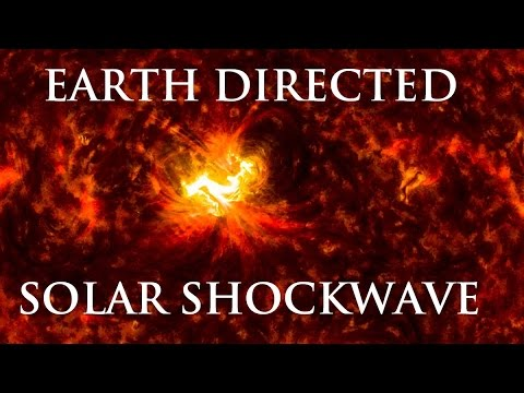 9/12/2014 -- 1080p HD -- Solar Shockwave from X-Class flare -- X1.6 Earth Directed