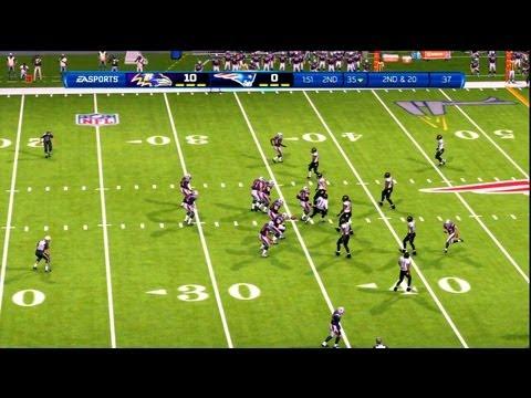 NFL Playoffs AFC Title 2013 - Baltimore Ravens vs New England Patriots - 1st Qrt - Madden '13 - HD
