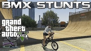 GTA 5 Epic BMX stunts MONTAGE 2 (Grinds, Flip ,Spin, wallride, stall, transfer)