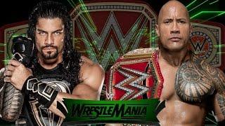 Roman Reigns vs The Rock for championship