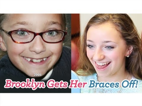 brooklyn gets her braces off youtube