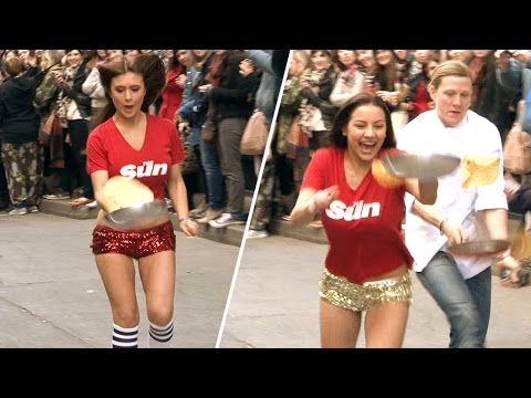 Great pancake tossing from team Page 3