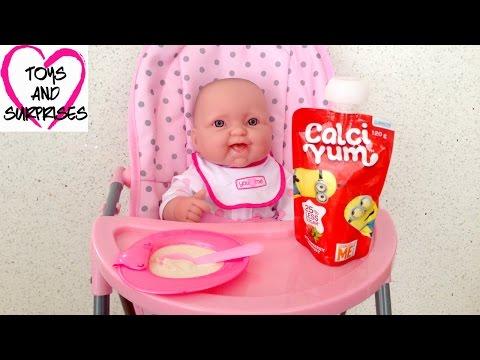 ❀ Видео с куклой Пупсик Играем в дочки матери Игрушки для Девочек Готовим Завтрак  Baby Doll Food