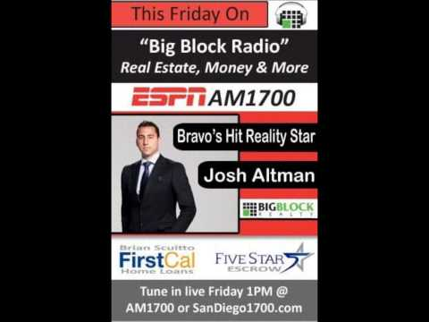 Josh Altman of Million Dollar Listing Interview Pt 1 - Big Block Radio Hour on ESPN AM1700