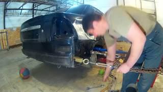 Лада Приора ремонт крыла . Lada Priora  Auto body repair.