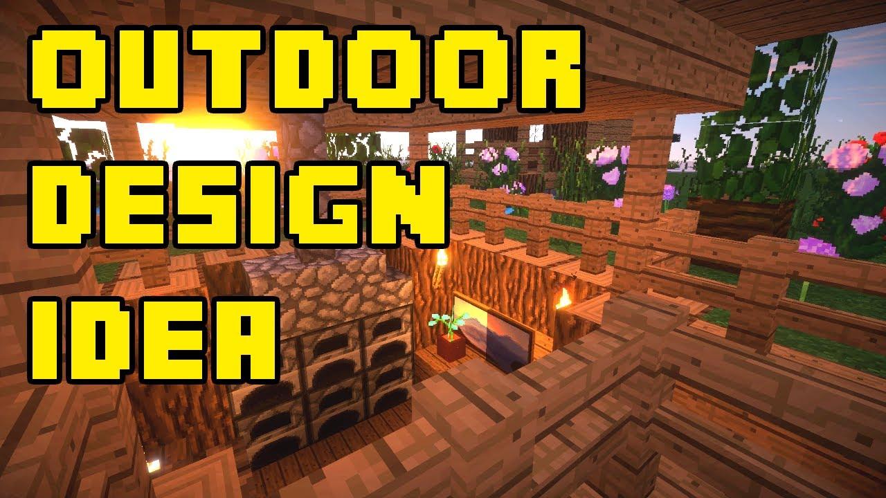 Minecraft backyard outdoor landscaping patio design ideas xbox pe ps3