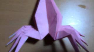 Origami Crab (cancer) Part 2 (reuploaded)