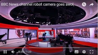 BBC News channel robot camera goes awol, much to the amusement of Simon McCoy and Matt Taylor