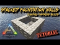 Stacked Foundation Walls - The most impenetrable raft in Ark Survival Evolved