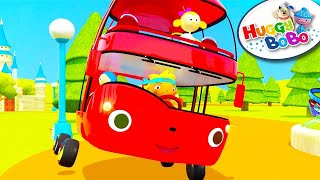 Wheels On The Bus   Episode 1   Nursery Rhymes   By HuggyBoBo