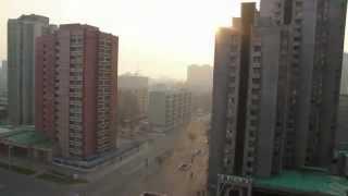 Morning in Pyongyang, North Korea. Very eerie.