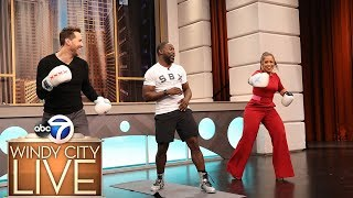 Celebrity trainer Gideon Akande demonstrates shadow boxing workout you can do at home