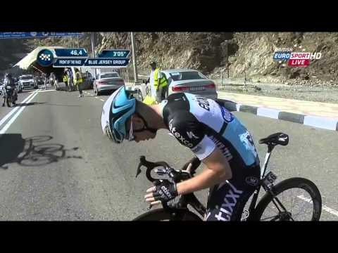 Dubai Tour 2015 - Stage 3 - crash at leaving one of the tunnels