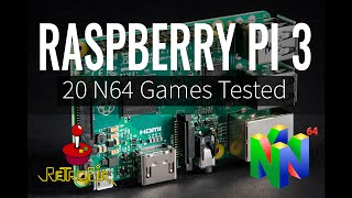 Raspberry Pi 3 Nintendo 64 Emulation - 20 N64 Games Tested with RetroPie 3.6