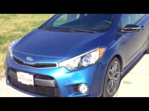 2015 Kia Forte SX TGDI Koup Navigation UVO Eservices in Abyss blue turbo