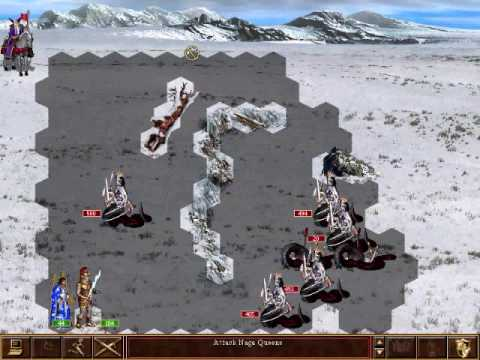 How to defeat the 3500 Naga Queens in HOMM3's Dragon Slayer campaign.