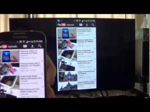 Screen Mirroring on Samsung Galaxy S4 to Sony Bravia KDL-42W670A Smart TV