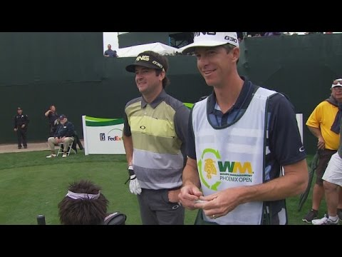 Bubba Watson destroys his tee shot on No 17 at Waste Management