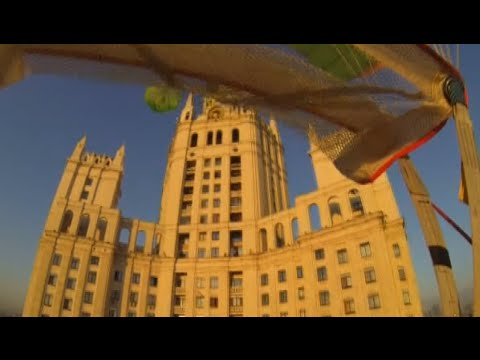 GoPro Moscow base jump: Int Min releases 'Stalin star-painter' escape footage