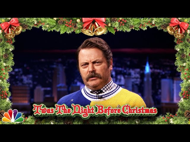 Nick Offerman Reads 'Twas the Night Before Christmas