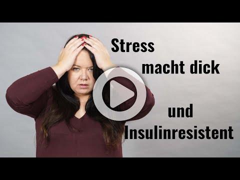 Stress macht dick und führt zur Insulinresistenz