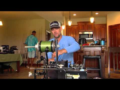 How To Spool A Spinning Reel With Braid- Shimano Saragosa 10.000