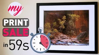 My Crazy 2-for-1 Large Format Photography Print Sale in 59 Seconds