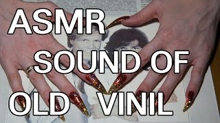 ASMR scratching tapping vinyl sound red long nails