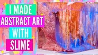 Satisfying Abstract Art with Slime #ElmersWHATIF // Soothing & Easy Art Demo #AD