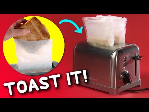 Making toasted sandwiches is easy with ToastIt Toaster Bags (2-Pack)