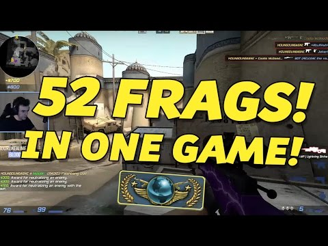 CS:GO - GLOBAL ELITE GAME: 52 Frags 10 Assists!