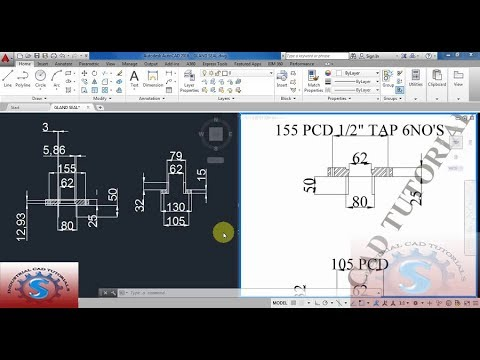 GLAND SEAL DETAIL || AUTO-CAD 2D PRACTICE DRAWING || BASIC TUTORIALS FOR BEGINNERS #141