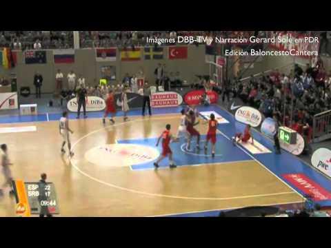 U18M - Junior ESPAÑA Vs. SERBIA - Final Torneo Mannheim 2012 - Vídeo 1º