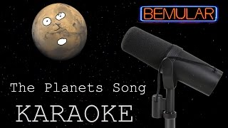The Planets Song (original) KARAOKE version!