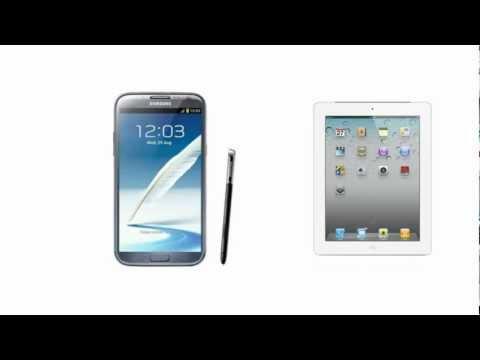 Samsung Galaxy Note 2 vs Apple iPad 3, full tablet specifications