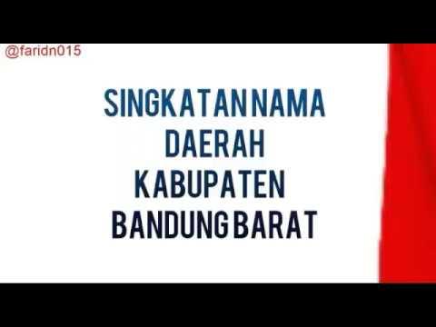 Singkatan Nama Daerah Kabupaten Bandung Barat