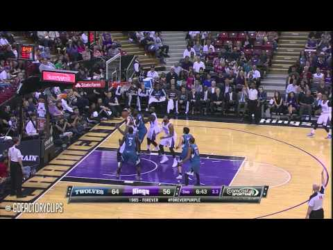2014.04.13 - DeMarcus Cousins 35 vs Kevin Love 43 Full Duel Highlights - Kings vs Timberwolves