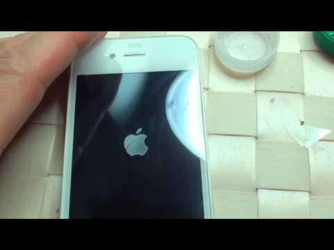 Apple iPhone 4 Vetro rotto sostituzione conversione da nero a bianco smontaggio Parte Sesta