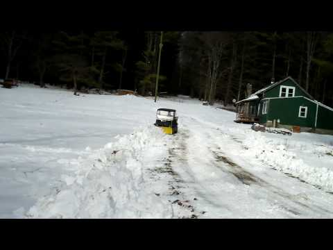 Cub Cadet Big Country UTV Plowing Snow