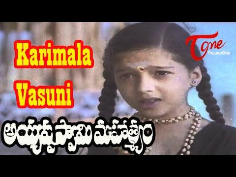 Ayyappa Swamy Mahatyam Songs - Karimala Vasuni - Sarath Babu - Devotional Song video