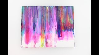 Abstract painting acrylic on canvas - painting on canvas for beginners - art therapy painting